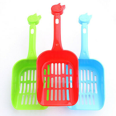 Poop Sand Scoop Sieve Cat Animal Pet Plastic Litter Tray Scooper Shovel Kitty IS