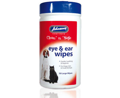 Johnson's Ear & Eye Wipes for Dogs, Cats & Small Animals