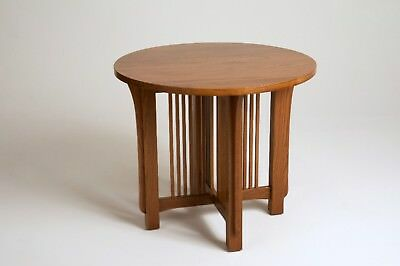 Mission Arts & Crafts Stickley style Round Lamp End Table
