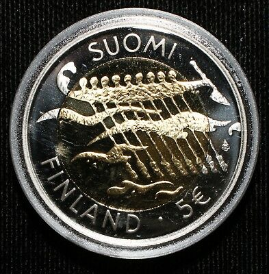 2007 Finland 90 Years Independent Silver Proof Commemorative Coin