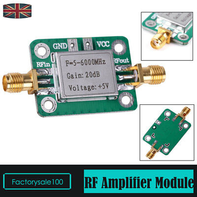 5MHZ-6000MHZ 5VDCRF Signal Power Amplifier Module with 20dB Gain 85mA  VFH UHF
