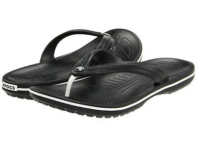 cd4350735ff Men Crocs Crocband Flip Flop Sandal 11033-001 Black 100% Original Brand New