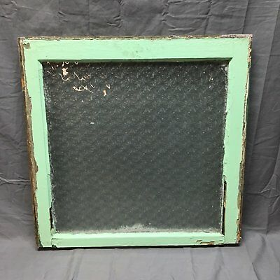 Antique Florentine Privacy Spider Web Design Glass Window Sash 24x24 Vtg  23-18J