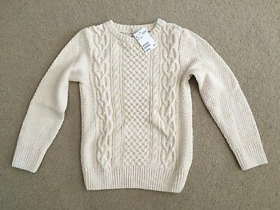 Boy's H&M Cotton Cable knit Sweater, sz.  8-10, NWT!