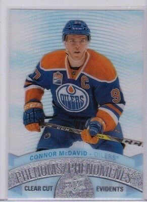 CONNOR McDAVID 17/18 Upper Deck Tim Hortons Clear Cut Phenoms CCP-1 Acetate Card