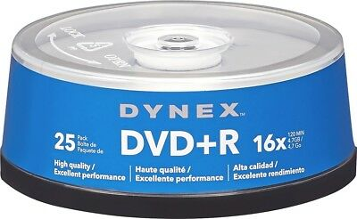 Dynex- 25-Pack 16x DVD+R Disc Spindle - Blue/Gray
