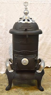 Antique Cast Iron Atlanta Stove Works, M12A, Baby Supreme, Down Draft, Woodstove