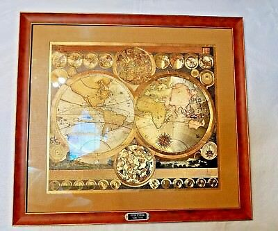 World map by peter schenk the elder 1645 1715 gold foil map museum world map by peter schenk the elder 1645 1715 gold foil map museum glass gumiabroncs Gallery