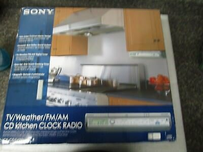 Sony Under Cabinet Kitchen CD Clock Radio ICF CD543RM BRAND NEW in Retail Box