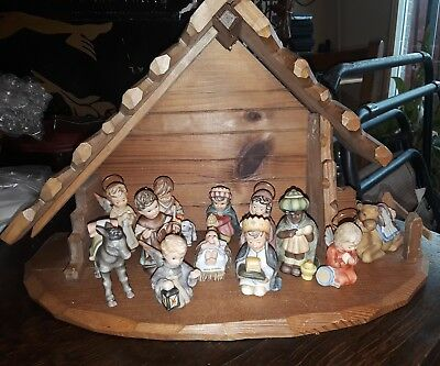 Hummel Nativity Set, 12 piece, exc condition Goebel Germany, with stable 1999