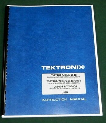 Tektronix CSA7404 / TDS7404 / TDS6604 User Manual: Comb Bound & Plastic Covers