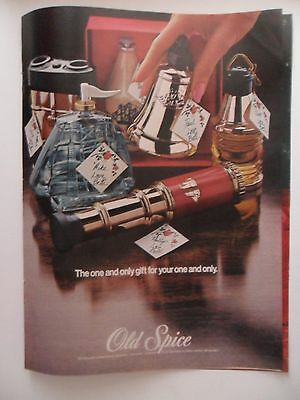 1973 Print Ad Old Spice Cologne Perfume Fragrance Gift Sets ~ Your One and Only