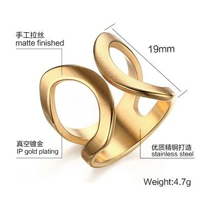 Jewelry Size 6--9 Stainless Steel Womens Wedding Party Butterfly Open Ring Gift