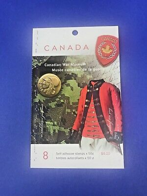 Canada Stamps - WAR MUSEUM BOOKLET OF 8 x 50c *NEW*
