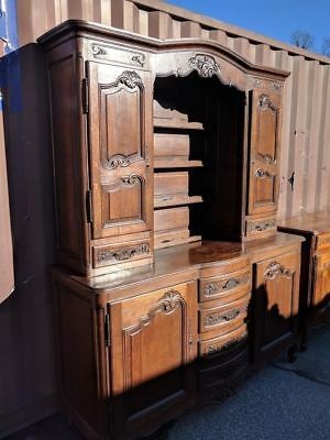 Antique Country French Buffet Carved Oak Vaisselier Cupboard Rack