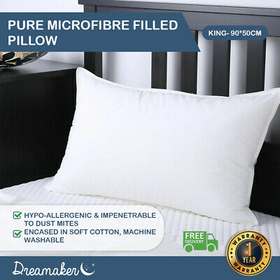 KING SIZE PILLOW Cushion Inserts Cotton Japara Microfiber 90x50cm DOWN Altern