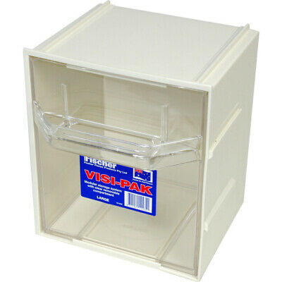 1H042 Large Visi Pak Storage Drawer With Clips - Fischer Plastic 9311231124351