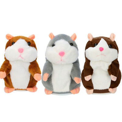 Talking Hamster Cute Mouse Pet Plush Toy Learn To Speak Record Kids Sound Gift
