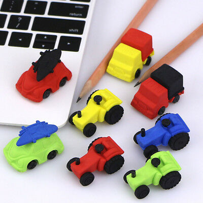 Mini Car Eraser Nontoxic Pencil Rubber School Supplies Stationery Toy