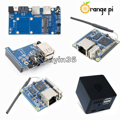 Orange Pi Zero/Zero NAS H2 256/512MB WiFi SBC Expansion Board USB Black ABS Case