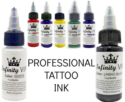 Tattoo Ink - 30ml (1oz) - Choose from over 7 BRILLIANT Colours Black Lining Red