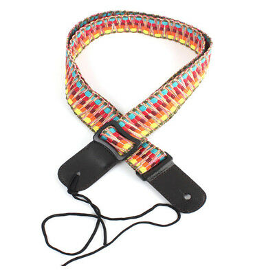Adjustable Classic Style Guitar Soft Strap Cotton For Belt Electric Bass D7G9