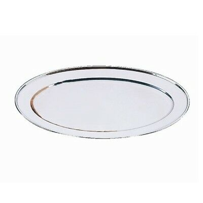 Oval Serving Tray 30cm Stainless Steel Platter,silver W5O3