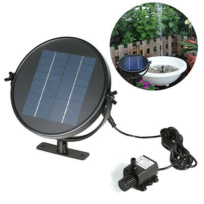 Solar Panel Power Water Pump Fountain Watering Kit for Pool Pond Garden Plants
