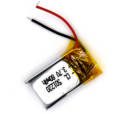 3.7 V 80mAh 501220 Li-Polymer Rechargeable Battery Liion LiPo Cell for GPS MP3