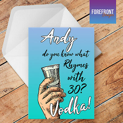 Personalised VODKA Funny Greeting Card Anniversary Birthday 18th 21st 30th Gift