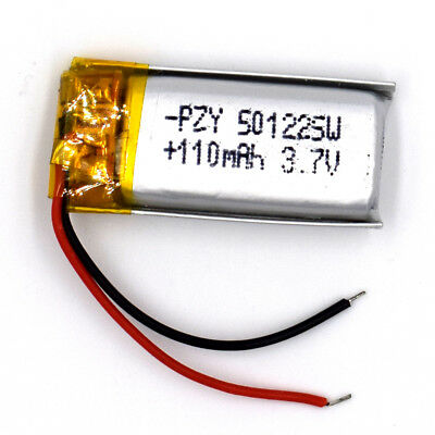 3.7 V 110mAh 501225 Li-Polymer Rechargeable Battery Liion LiPo Cell for GPS MP3