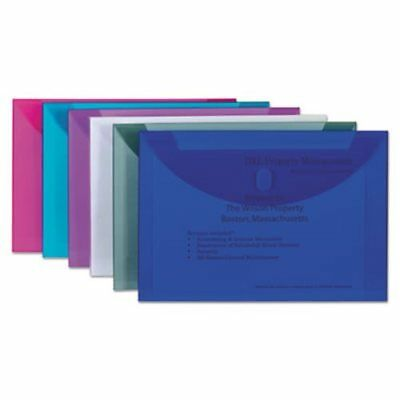 C-Line Reusable Poly Envelope, Hook and Loop Closure, Assorted Colors (CLI58000)