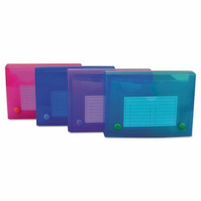C-line Index Card Case, Holds 200 4 x 6 Cards, Asstd Colors, 4 Cases (CLI58446)