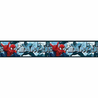 SPIDERMAN TEAM UP Bordure de papier peint Autoadhésive 5M Long