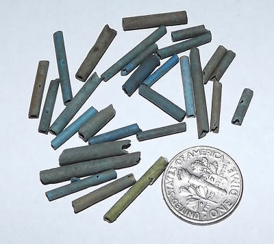 More than Two Dozen 2500 Year old Ancient Egyptian Faience Mummy Beads (#G3647)