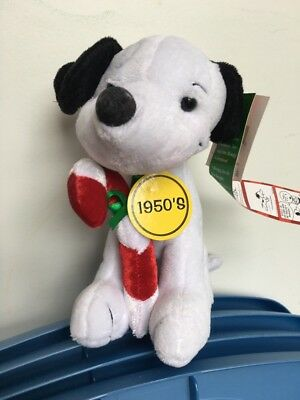 Peanuts Snoopy Plush Celebrate 60 Years 1950's Decade Sitting Animal Toy RARE!!