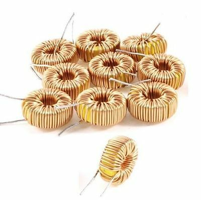 10Pcs Toroid Core Inductors Wire Wind Wound DIY mah--100uH 6A Coil HOT NA