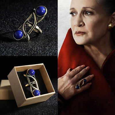 Star Wars Ring The Last Jedi Princess Leia Ring Blue With Gift Box