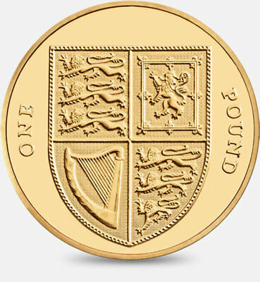 2014 Royal Shield of Arms  £1 One Pound Coin Uncirculated - Fourth Portrait