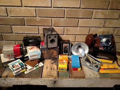 Vintage Camera and Accessories LARGE LOT, Some with ORIGINAL BOX