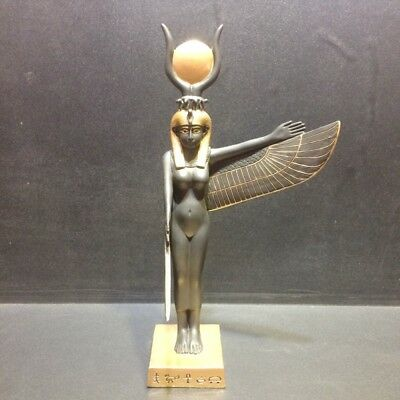 """9.5"""" Statue Egyptian ISIS Goddess Ancient Egypt Standing Wing Figurine Sculpture"""