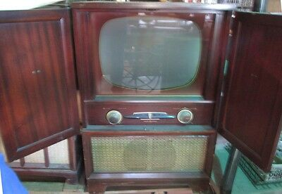 "Ge General Electric Antique Vintage Movie Prop Television Tv   Console ""tv631"""