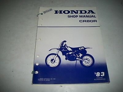 1983 Honda Cr80R  Motorcycle Factory Oem Shop Manual  Clean More Listed