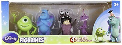 Disney PIXAR MONSTERS, INC. 4 PACK FIGURINES CAKE TOPPER PLAY SET SULLY MIKE BOO
