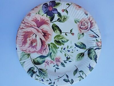 Vintage Floral Elegant  Paper Party  Plates, Cups - Pack of 20 See Variety