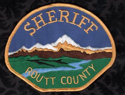 Routt County Colorado Sheriff Patch