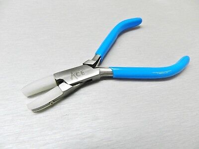Nylon Jaws Flat Nose Pliers Jewelry Bead Wire Work Tool Straighten Wires + Extra