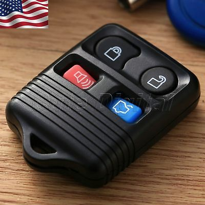 4 BTN Keyless Entry Remote Key Fob Case Clicker Transmitter Replacement for Ford
