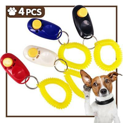 Dog Training Clickers Pet Puppy Kitten Cat Obedience Aid w/ WristStrap Pack of 4