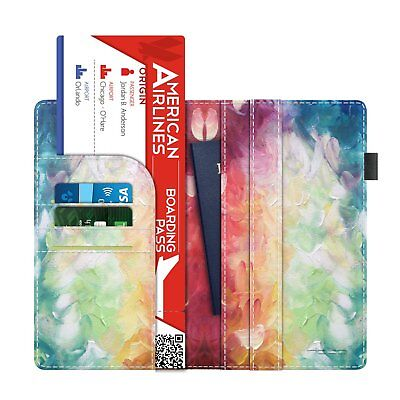 MoKo RFID Blocking Passport Holder Multi-purpose PU Leather Travel Wallet Case